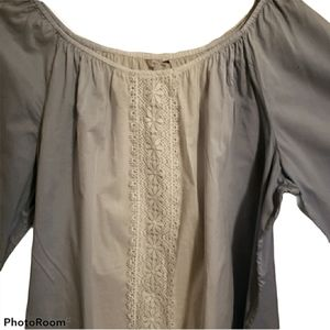 Casual summer plus size 22/24 top w/Lace front.